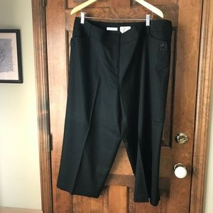 Talbots Black Wool Cropped Pants 20W